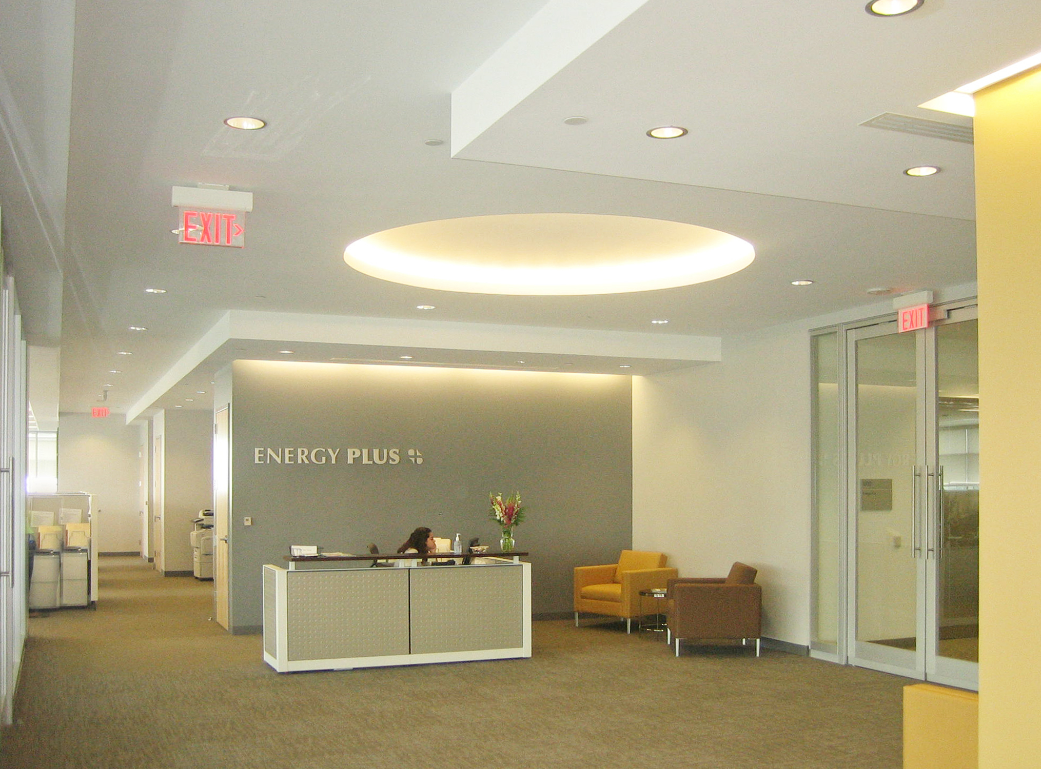 New office for energy plus on the level with gardner fox for Office design lighting