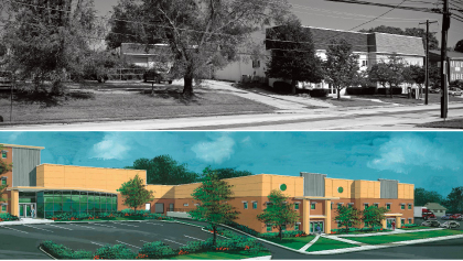 Bullen Chemical Existing Facility and Architectural Rendering of Renovation and Expansion in Philadelphia PA
