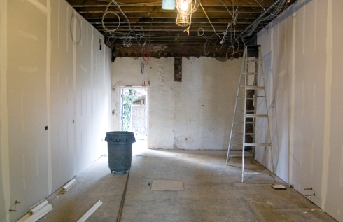 Mariposa Coop Drywall Prep Kitchen Construction Philadelphia, PA