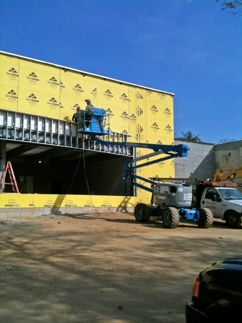 Warehouse Expansion Exterior sheathing Philadelphia Pa